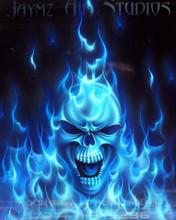 1 Flame Skull
