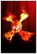 Fire Cross Skull