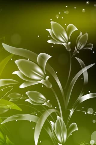 Zielone kwiaty