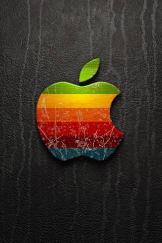 Logotipo da Apple de couro