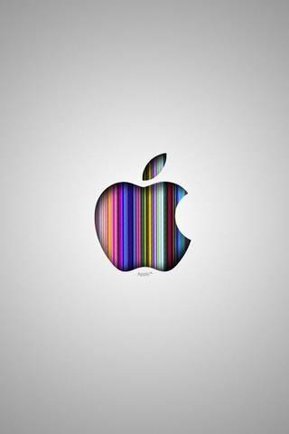 Logotipo da apple prata