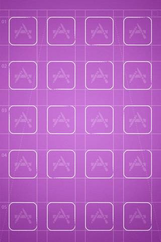 Purple Grid By