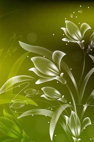 Vert fleuri