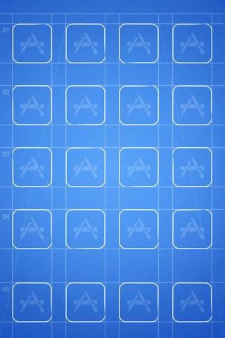 Blue Grid By Ba