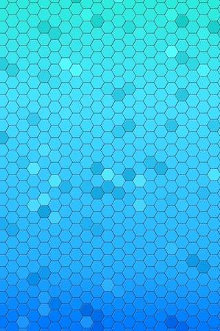 Aqua Hexagons
