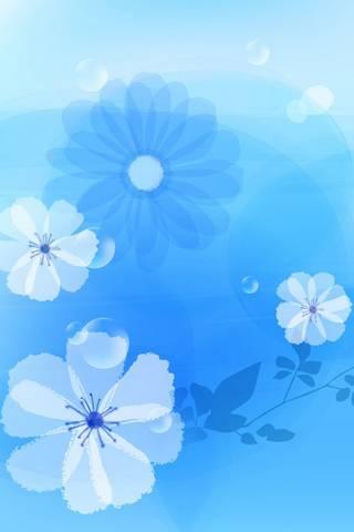 Floral Blue.