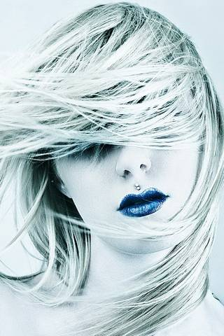 Blaues Mädchen