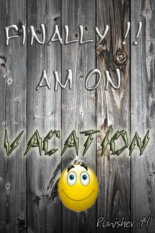 Finally vacation