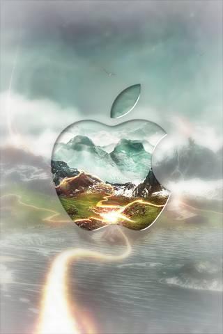 Logotipo da Apple Glas *