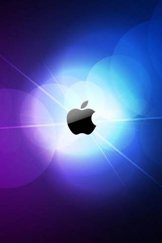 Logo d'Apple brillant