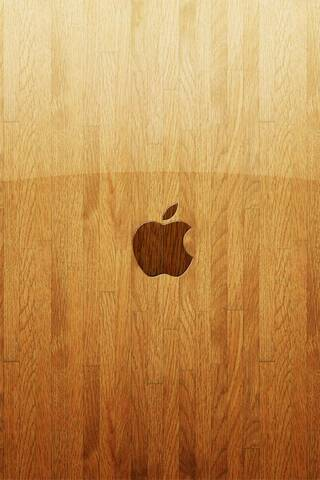 Apple Holz Glas