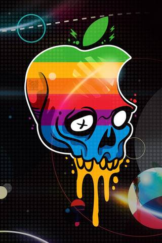 Skull Logo Apple