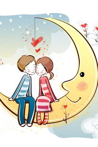 Couple On Moon