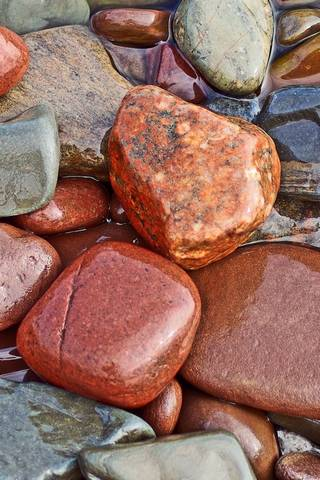 Wet Colored Rocks