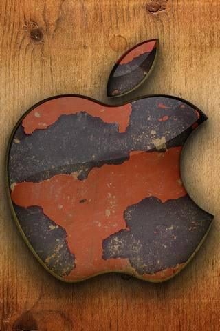 التفاح خشبية العمل
