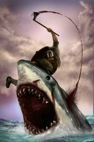 Viking vs. Shark