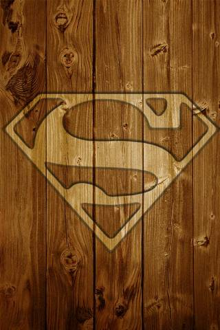 Superman en bois