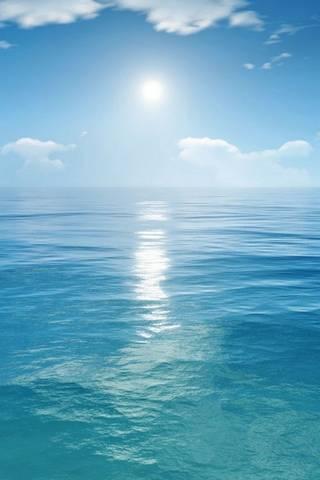 Blaues Meer und Sonne