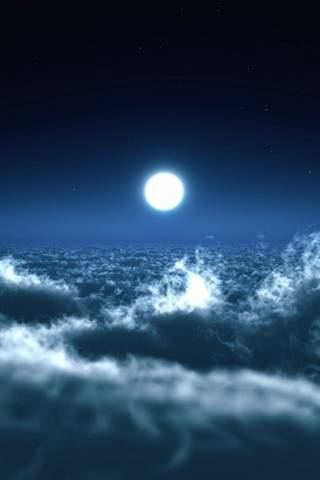Moon Above Clouds